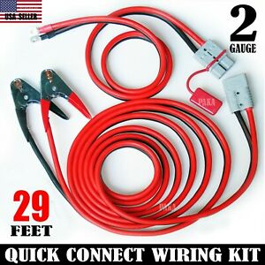 2 Gauge 29 Ft Universal Quick Connect Wiring Kit Trailer Mounted Winch