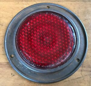 Vintage King Bee Hy Power Vintage Glass Reflector App Red Texas Highway Dept