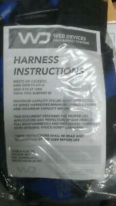 Wd Fall Arrest Safety Harness W Lanyard