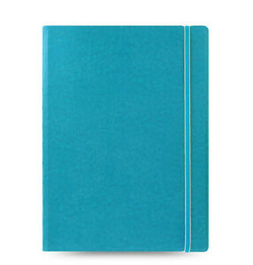 New Filofax A4 Size Refillable Leather look Ruled Notebook Diary Aqua 115027