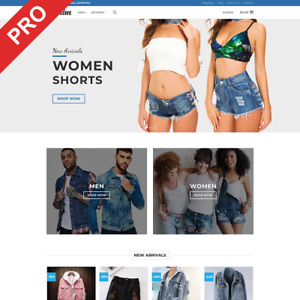 Turnkey Dropshipping Business Denim Clothes Premium Website For Sale