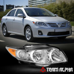 Fits 2009 2010 Toyota Corolla Rh Passenger Side Chrome Replacement Headlight