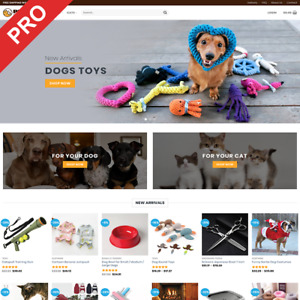 Professional Dropshipping Store Pet Supplies Ecommerce Website Business