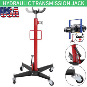 Hydraulic Transmission Jack 0 5 Ton 2 Stage W 360 Swivel Wheels Car Lift Hoist