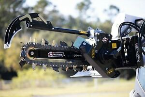 2 3 Trencher 12 21 Gpm With Adjustable Combination Dirt Chain For Bobcat