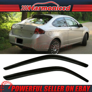 Fits 08 11 Ford Focus Coupe Slim Type Acrylic Window Visors 2pc