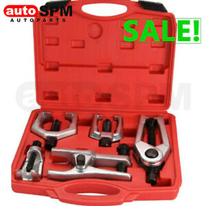 6pc Pitman Arm Puller Ball Joint Separator Tie Rod Front End Service Tool Kits