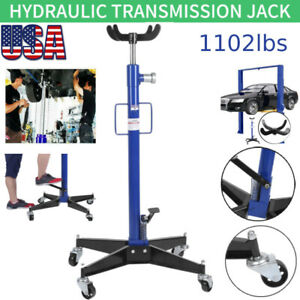 1102lbs 360 2 Stage Hydraulic Transmission Jack Stand Lifter Hoist For Car Lift