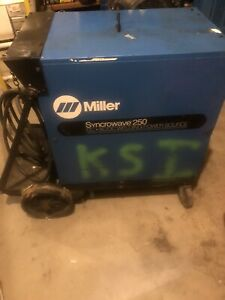 Miller Syncrowave 250 Welding Machine Power Source Ac dc Tig Welder W High Freq