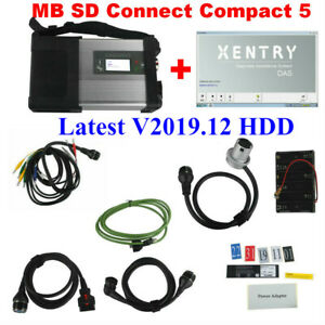 V2019 12 Software Mb Sd Connect Compact 5 Star Diagnosis For Cars