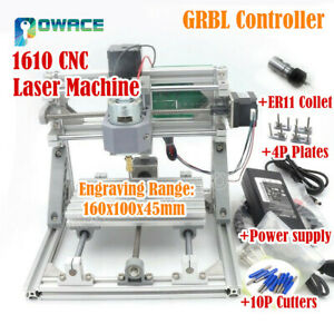 1610 3 Axis Grbl Er11 Collet Diy Mini Wood Laser Engraving Cutter Router Machine