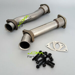 For 99 03 Ford Powerstroke 7 3l Super Duty Turbo Diesel Exhaust Up Pipes Kit Ss