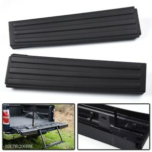 For 09 14 Ford F 150 Black Flex Step Side Tailgate Molding Covers Right Left