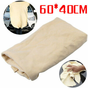 1pc Natural Chamois Leather Car Cleaning Cloth Wash Suede Absorbent Towel