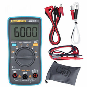 Auto Range Digital Multimeter 6000 Counts True Rms Ac dc Resistance Cap Tester