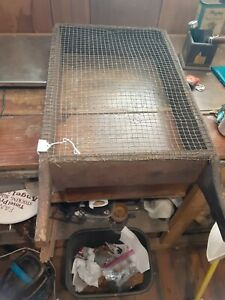 Antique Wooden Primitive Grain Sifter Unique Rectangle Shape 28 L 15 Wide