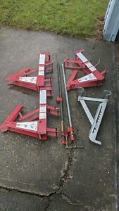 Qual craft Steel Pump Jack Systems 500 lb Capacity Lot Of 3 Parts In Ct