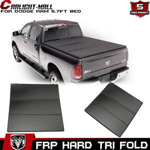 For 09 2018 Dodge Ram 1500 Crew Cab 5 7ft Short Bed Hard Tri fold Tonneau Cover