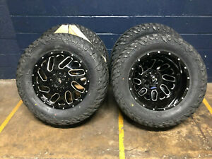6 20 Fuel D581 Dually Triton Wheels 35 Mt Tires Package 8x6 5 Dodge Ram 3500