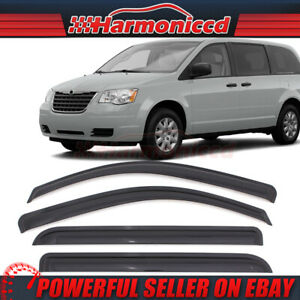 Fits 08 10 Grand Caravan 08 16 Chrysler Town Acrylic Window Visors 4pc Set