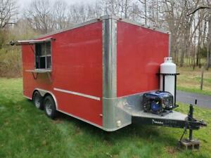 2018 8 5 X 16 Enclosed Food Concession Trailer Used For 3 Outings very Clean
