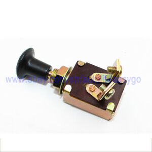 1pcs Universal Headlight And Parking Light Copper Pull Push Switch 1 Position