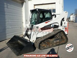 2018 Bobcat T870 Skid Steer Erops Heat ac 2 Speed High Flow 215 Hours 100hp