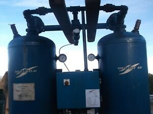 Used Great Lakes Air Desiccant Compressed Air Dryer
