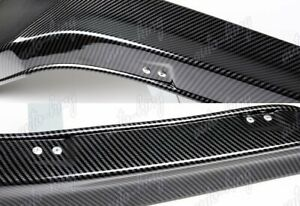 Hfp style Carbon Style Front Bumper Spoiler Lip For 13 15 Honda Accord Coupe 2dr