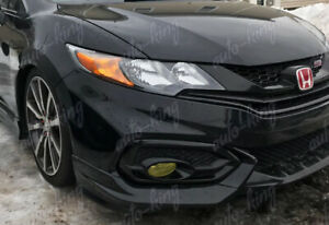 Hfp Style Painted Black Front Bumper Spoiler Lip For 2014 2015 Honda Civic Coupe