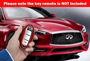 Real Red Carbon Fiber Remote Key Shell Cover For Nissan 370z 350z Altima Maxima