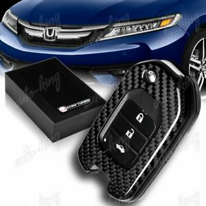 For Honda Accord civic odyssey Real Carbon Fiber Remote Key Shell Cover Case
