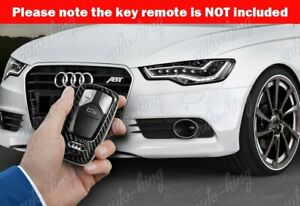 New Real Carbon Fiber Remote Key Shell Cover Case For Audi A4 A5 S4 S5 Q5 Q7 Tt