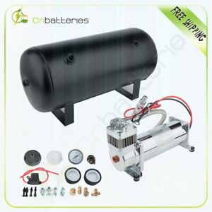 5 Gal Air Tank 200 Psi Air Compressor Onboard System Kit For Train Horn 12v