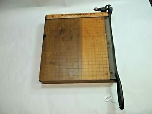 Montgomery Ward Co Vintage No 10 Paper Cutter Shear 10 X 10 Table