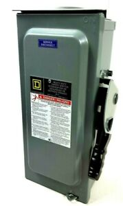 Square D H361 30 Amp 600vac Safety Switch 3pst New