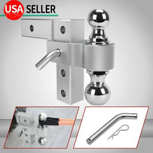 2 Receiver 6 Adjustable Mount Towing Trailer Hitch 2 2 5 16 Ball 5000lbs