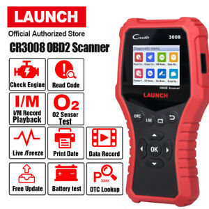 Launch Obd2 Scan Tool Cr3008 Check Engine Live Data I M Readiness Code Reader