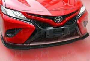For 2018 2020 Toyota Camry Se Xse Carbon Look Front Bumper Spoiler Lip 3pcs
