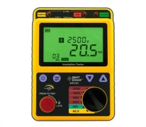 High Voltage Ar3123 2500v Insulation Resistance Tester Polarization Smart Sen Ab