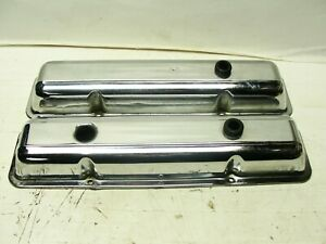 1968 Chevrolet Camaro Z 28 Small Block Chrome Valve Covers O Markings