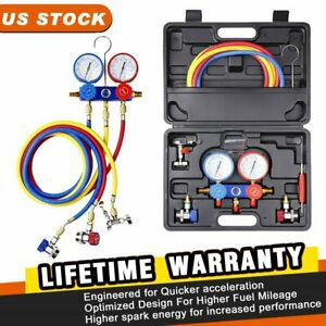 A c Refrigeration Kit Ac Manifold Gauge Tools With Reading Of R134a R404a R410a
