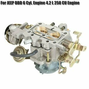For Jeep Wrangler Carburetor Carb Bbd 6 Cylinder Engine 4 2 L 258 Cu Engine