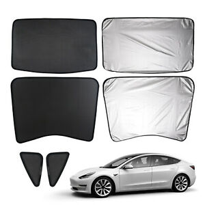 Car Window Sun Shades Sunroof Screen Shade Mesh Curtain For Tesla Model 3 17 19