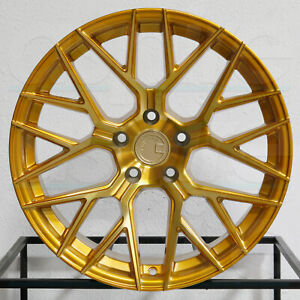 4 new 20 Aodhan Ls009 Ls9 Wheels 20x10 5 5x120 35 Gold Rims
