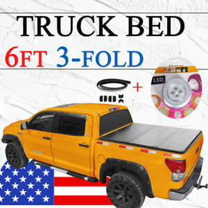 Trunk Bed Tonneau Cover 6ft For 04 14 Chevy Colorado Gmc Canyon Short Bed 3 Fold