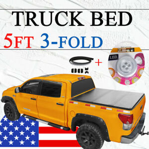 For 2019 20 Ford Ranger Pickup Truck Bed Tri Fold Tonneau Cover 5ft Soft