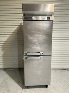 Hobart Q1 Single Section 2 Door Reach in Refrigerator Cooler 28 wide 115v