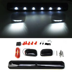1 Set Smoke Lens White 12led Cab Roof Top Marker Clearence Lights For Chevrolet