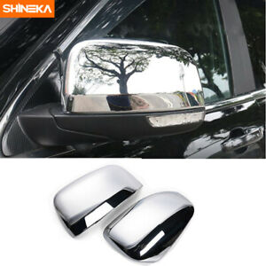 2pcs Chrome Rearview Side Mirror Cover Trim For Jeep Grand Cherokee 2011 2020